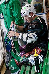 Domen Vedlin (HDD Tilia Olimpija, #7) during ice-hockey match between HDD Tilia Olimpija and HK Acroni Jesenice in second game of Final at Slovenian National League, on April 3, 2011 at Hala Tivoli, Ljubljana, Slovenia. (Photo By Matic Klansek Velej / Sportida.com)