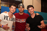 Enrique Iglesias poses for a picture with Lock n Ville during the Airtel CLT29 Press Conference with Enrique Iglesias held at the Sandton Sun Hotel in Johannesburg on the 9 September 2010 as part of the build up to the Champions League T20 tournament being held in South Africa between the 10th and 26th September 2010..Photo by: Ron Gaunt/SPORTZPICS/CLT20