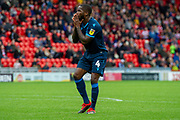 Abu Ogogo of Bristol Rovers as his shot goes over the bar during the EFL Sky Bet League 1 match between Doncaster Rovers and Bristol Rovers at the Keepmoat Stadium, Doncaster, England on 19 October 2019.