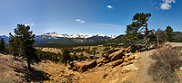 Rocky Mountain National Park landscape panorama. Composite of four images taken with a Nikon D3 camera and 24 mm f/3.5 PC-E lens (ISO 200, 24 mm, f/16, 1/200 sec). Composite created using Auto Pano Giga.