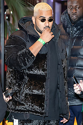 © Licensed to London News Pictures . 23/11/2018. Manchester , UK . PrettyLittleThing owner Umar Kamani arrives at an opening event of The Ivy restaurant and bar venue in Spinningfields in Manchester City Centre . Photo credit : Joel Goodman/LNP