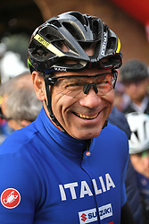 March 10, 2019 - Siena, Italia - Gian Mattia D'Alberto / lapresse.10-03-2019 Siena.Sport.Gara ciclistica Gran Fondo Strade Bianche 2019 .nella foto: Davide Cassani ..Gian Mattia D'Alberto  / lapresse.2019-03-10 Siena.Gran Fondo Strade Bianche 2019 .in the photo: Davide Cassani  (Credit Image: © Gian Mattia D'Alberto/Lapresse via ZUMA Press)