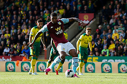 Wesley of Aston Villa misses a penalty - Mandatory by-line: Phil Chaplin/JMP - 05/10/2019 - FOOTBALL - Carrow Road - Norwich, England - Norwich City v Aston Villa - Premier League