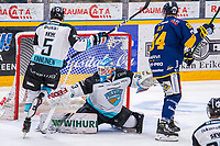 2019-11-27 | Rauma, Finland : Pelicans (33) Tomi Karhunen made 15 saves during the game between Lukko-Pelicans in Kivikylän Areena ( Photo by: Elmeri Elo | Swe Press Photo )