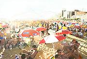 The city meets the sand at Ipanema Beach, Rio de Janiero, Brazil.