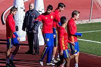 Spainsh Inigo Martinez, Diego Costa, Alvaro Morata and Nacho Monreal during the training of the spanish national football team in the city of football of Las Rozas in Madrid, Spain. November 10, 2016. (ALTERPHOTOS/Rodrigo Jimenez)