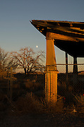 An abandoned settelment marks an off the beaten path intersection on The Mother Road: Historic Route 66 near Santa Rosa, New Mexico.