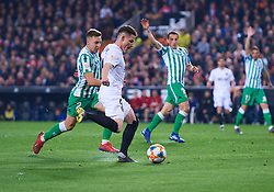 February 28, 2019 - Valencia, U.S. - VALENCIA, SPAIN - FEBRUARY 28: Kevin Gameiro, forward of Valencia CF scored his goal during the Copa del Rey match between Valencia CF and Real Betis Balompie at Mestalla stadium on February 28, 2019 in Valencia, Spain. (Photo by Carlos Sanchez Martinez/Icon Sportswire) (Credit Image: © Carlos Sanchez Martinez/Icon SMI via ZUMA Press)