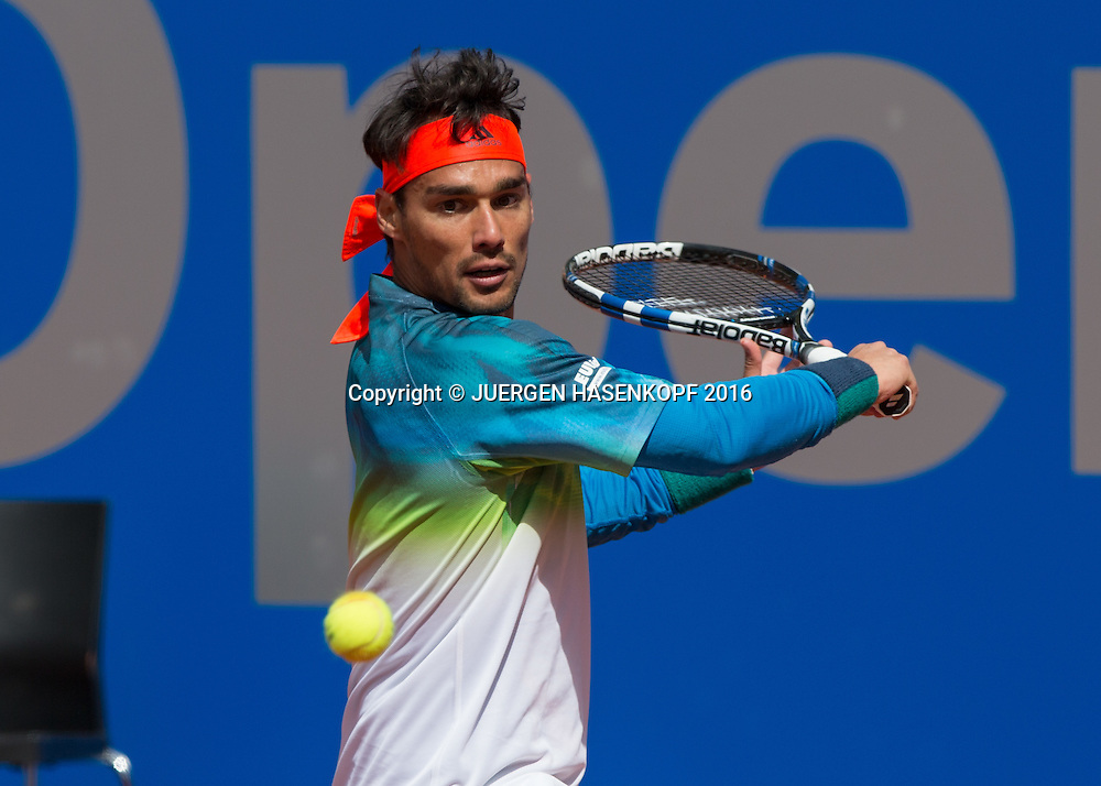 Fabio Fognini (ITA)<br /> <br /> Tennis - BMW Open2016 -  ATP  -  MTTC Iphitos - Munich -  - Germany  - 28 April 2016.