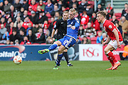 Cardiff City striker, Lex Immers (27) makes a pass during the Sky Bet Championship match between Bristol City and Cardiff City at Ashton Gate, Bristol, England on 5 March 2016. Photo by Shane Healey.