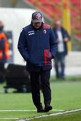 """Foto Filippo Rubin<br /> 11/03/2018 Bologna (Italia)<br /> Sport Calcio<br /> Bologna - Atalanta - Campionato di calcio Serie A 2017/2018 - Stadio """"Renato Dall'Ara""""<br /> Nella foto: ROBERTO DONADONI (ALLENATORE BOLOGNA)<br /> <br /> Photo by Filippo Rubin<br /> March 11, 2018 Bologna (Italy)<br /> Sport Soccer<br /> Bologna vs Atalanta - Italian Football Championship League A 2017/2018 - """"Renato Dall'Ara"""" Stadium <br /> In the pic: ROBERTO DONADONI (BOLOGNA'S TRAINER)"""