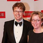 NLD/Amsterdam/20130911 - Lancering Netflix in Nederland, staatssecretaris Sander Dekker en partner