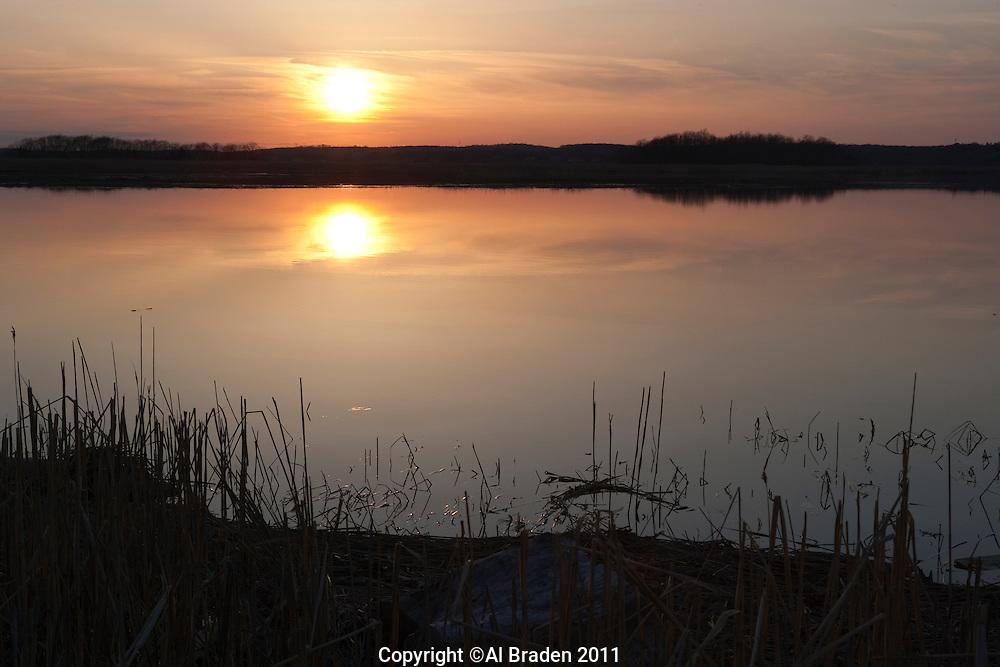 Sunset over Back River, Old Lyme, CT.