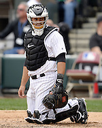 CHICAGO - APRIL 21:  Alex Avila #31 of the Chicago White Sox looks on against the Los Angeles Angels of Anaheim on April 21, 2016 at U.S. Cellular Field in Chicago, Illinois.  The Angels defeated the White Sox 3-2.  (Photo by Ron Vesely)   Subject: Alex Avila