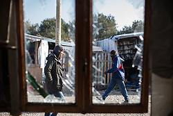 October 23, 2016 - Calais, Calais, France - Calais , France . The Calais migrant camp known as '' The Jungle '' , in Northern France , on the final day before the eviction and destruction of the camp  (Credit Image: © Joel Goodman/London News Pictures via ZUMA Wire)