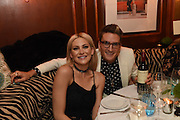 STEPHANIE PRATT; OLIVER PROUDLOCK, Fraser Carruthers  and Harry Scofield birthday. Archie's club, 92b Old Brompton Rd. London. 11 February 2017