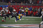 Los Angeles Rams wide receiver Brandin Cooks (12) in action during the NFL Super Bowl 53 football game against the New England Patriots on Sunday, Feb. 3, 2019, in Atlanta. The Patriots defeated the Rams 13-3. (©Paul Anthony Spinelli)