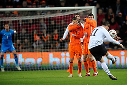 09-02-2011 VOETBAL: NEDERLAND - OOSTENRIJK: EINDHOVEN<br /> Netherlands in a friendly match with Austria won 3-1 / Ibrahim Afellay and Kevin Strootman NED<br /> ©2011-WWW.FOTOHOOGENDOORN.NL