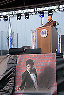 10th July 2009 - Gary, IN..Rev. Jesse Jackson spoke, reminding everyone to support one another and led the crowd in prayer...More than 6,000 people attended Michael Jackson's memorial service in his hometown took place at the Steel yard, Gary's minor league baseball park...Photo Credit: Heather A. Lindquist/SIPA...