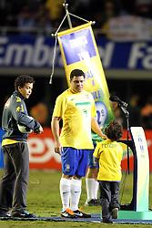 Ronaldo Nazario durante a homenagem por sua carreira de sucesso em seu último jogo pela seleção brasileira de futebol, um amistoso contra Roménia em 07 de junho de 2011 no Estádio do Pacaembu, em São Paulo. FOTO: Jefferson Bernardes/Preview.com
