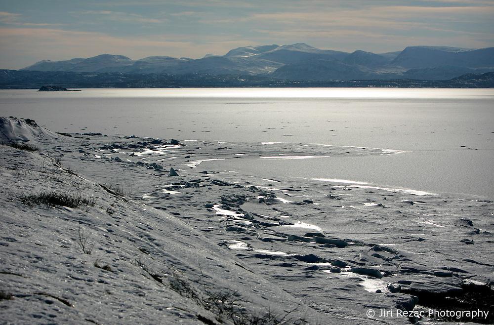 NORWAY FINNMARK 25MAR07 - Roddinessjoen Fjord in Finnmark, Norway's northermost Arctic province...jre/Photo by Jiri Rezac..© Jiri Rezac 2007..Contact: +44 (0) 7050 110 417.Mobile:  +44 (0) 7801 337 683.Office:  +44 (0) 20 8968 9635..Email:   jiri@jirirezac.com.Web:    www.jirirezac.com..© All images Jiri Rezac 2007 - All rights reserved.