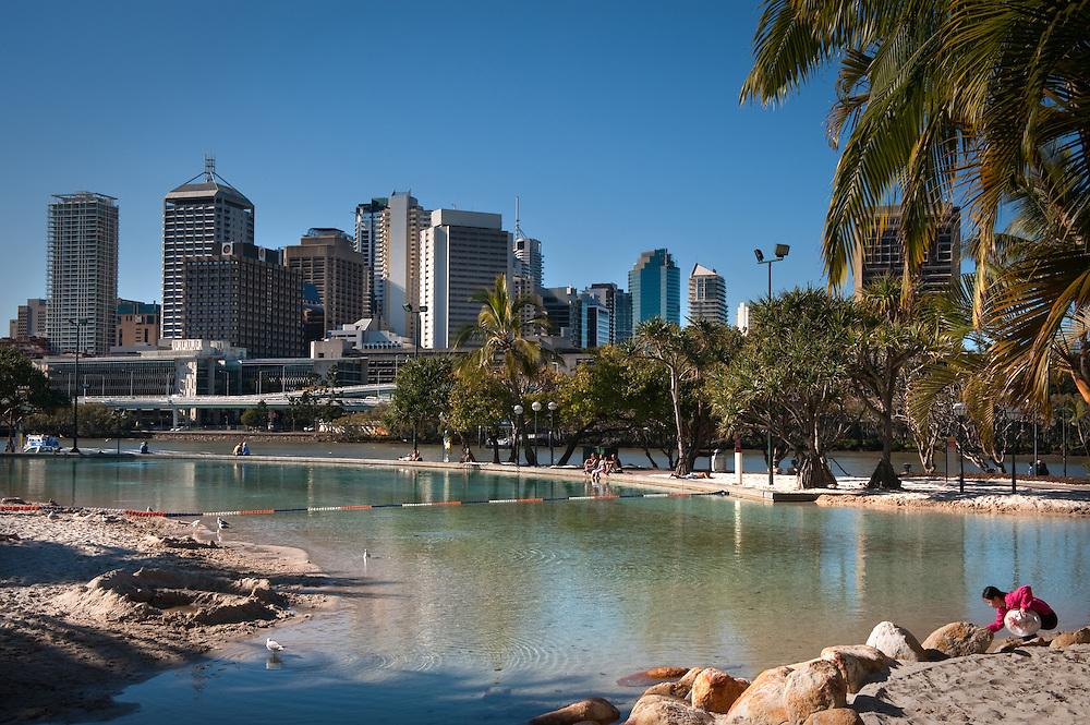The South Bank by the Brisbane River, Brisbane, Queensland, Australia.