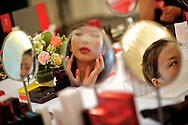 Contestants for the Miss Universe China Pageant  practice proper make up application at a training camp for contestants in Beijing, China on Thursday, June 23, 2011.  The training camp was created by cosmetics businesswoman and Chinese-American television personality Yue-Sai Kan's to give China, which has never won a Ms. Universe Contest, a cpotential contender in the upcoming beauty pagent.