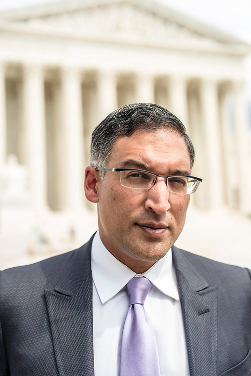 WASHINGTON, DC -- 8/10/17 -- Supreme Court lawyer Neal Katyal is one of the leading attorneys for the state of Hawaii as they fight President Trump's travel ban. Katyal, now an attorney with Hogan Lovells, and former Acting Solicitor General, has argued more cases before the Supreme Court, 34, than any other minority attorney except Thurgood Marshall, with whom he's currently tied..…by André Chung #_AC14020
