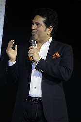 May 3, 2017 - New Delhi, India - Former Indian cricketer Sachin Tendulkar speaks during the launch Smartron srt.  smart phone. (Credit Image: © Ravi Prakash/Pacific Press via ZUMA Wire)