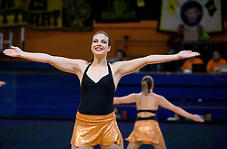 Cheerleaders perform during basketball match between KK Helios Suns (SLO) and Aris B.S.A.-2003 (GRE) in Round #1 of FIBA Champions League 2016/17, on October 18, 2016 in Sports arena Domzale, Slovenia. Photo by Vid Ponikvar / Sportida