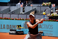May 5, 2019 - Madrid, Spain - Garbiñe Muguruza in her match against Petra Martic (CRO) during day two of the Mutua Madrid Open at La Caja Magica in Madrid on 5th May, 2019. (Credit Image: © Juan Carlos Lucas/NurPhoto via ZUMA Press)