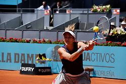 May 5, 2019 - Madrid, Spain - Garbiñe Muguruza in her match against Petra Martic (CRO) during day two of the Mutua Madrid Open at La Caja Magica in Madrid on 5th May, 2019. (Credit Image: © Juan Carlos Lucas/NurPhoto via ZUMA Press)