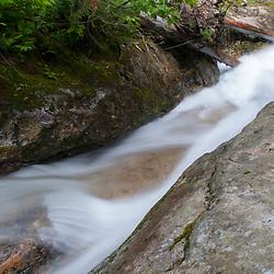 Stream Detail, Denny Creek Waterslides, Mt. Baker-Snoqualmie National Forest, Washington, US