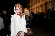 PALOMA FAITH; PAM HOGG, Dazed & Confused 20th Anniversary Exhibition. Somerset House. London. 3 November 2011<br /> <br />  , -DO NOT ARCHIVE-© Copyright Photograph by Dafydd Jones. 248 Clapham Rd. London SW9 0PZ. Tel 0207 820 0771. www.dafjones.com.