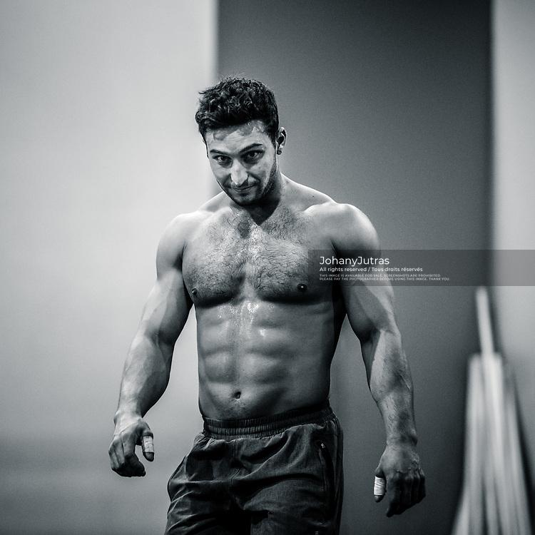 Maxime Roy De Sylva. CrossFit Opens 18.3 at CrossFit ADM gym in Longueuil, QC, Saturday, March 10, 2018. (Photo: Johany Jutras)