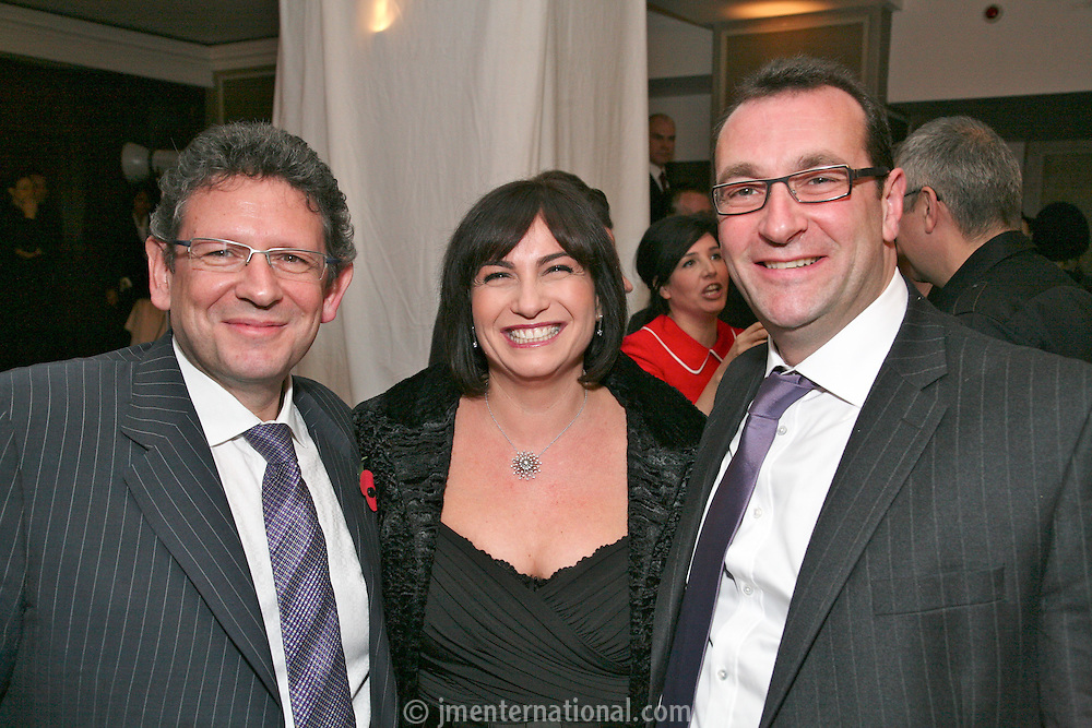 Lucian Grainge with  Justin and Martine Grainge