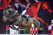 HONG KONG - FEBRUARY 20:  Emanuele Gaudiano of Italy rides Wodan M during the Airbus Trophy as part of the 2016 Longines Masters of Hong Kong on February 20, 2016 in Hong Kong, Hong Kong.  (Photo by Aitor Alcalde Colomer/Getty Images)