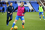 Peterborough Utd's Kyle Dempsey (30) warming up before the EFL Sky Bet League 1 match between Peterborough United and Rochdale at London Road, Peterborough, England on 12 January 2019.