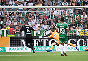 STOCKHOLM, SWEDEN - MAY 16: Soren Rieks of Malmo FF scores the opening goal to 0-1 during the Allsvenskan match between Hammarby IF and Malmo FF at Tele2 Arena on May 16, 2018 in Stockholm, Sweden. Photo by Nils Petter Nilsson/Ombrello ***BETALBILD***