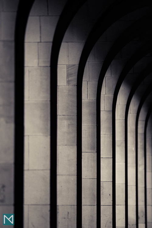 Stone arches in central Manchester