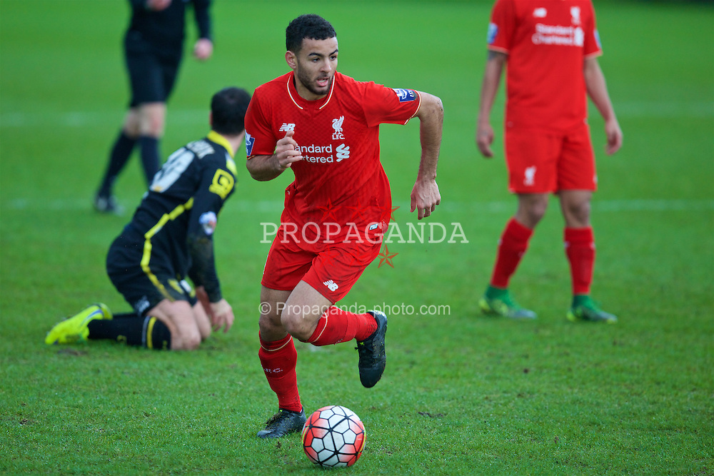 KIRKBY, ENGLAND - Tuesday, January 5, 2016: Liverpool's Kevin Stewart during the Under-21 Friendly match against Morecambe at the Kirkby Academy. (Pic by David Rawcliffe/Propaganda)