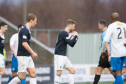 Falkirk's Rory Loy takes the ball for the penalty.<br /> Falkirk 1 v 1 Morton, Scottish Championship game today at The Falkirk Stadium.<br /> &copy; Michael Schofield.