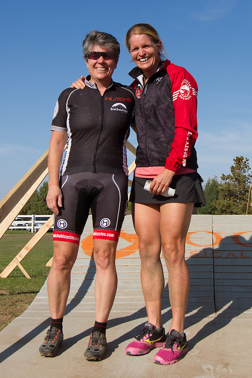 Mary Dallas (Hutch's / Bend Dental) and Carolyn Daubeny (Deschutes), Women 45+.  © Brian Nelson