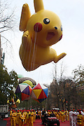 26 November 2009, NY, NY- Pikachu(Pokeman)at The 2009 Macy's Day Parade held on November 26, 2009 in New York City. Terrence Jennings/Sipa
