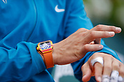 Richard Mille watch clock Rafael NADAL (ESP) during the Roland Garros French Tennis Open 2018, single Final Men, on June 10, 2018, at the Roland Garros Stadium in Paris, France - Photo Stephane Allaman / ProSportsImages / DPPI