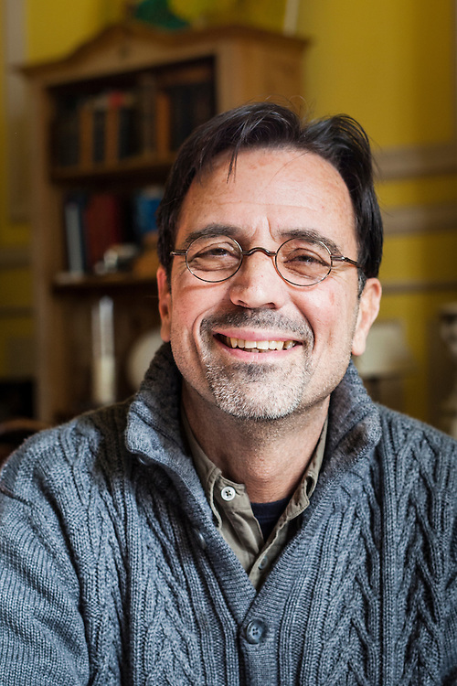 French author, crime novelist, André Fortin at his home, Marseille, France , 2012/02/15, © Denis Dalmasso