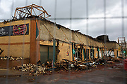 The aftermarth of fire. Kent Fire Services tackled a major fire at Morrisons supermarket in Folkestone, Kent. 8th November 2018. The fire started in the cafe chip fryer and spread rapidly through the store. 12 fire engines and two height vehicles attended the fire, it took over 8 hours to bring it under control. <br /> (photo by Andrew Aitchison / In pictures via Getty Images)
