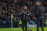 Hibernian FC Manager Paul Heckingbottom during the Betfred Scottish League Cup semi-final match between Hibernian and Celtic at Hampden Park, Glasgow, United Kingdom on 2 November 2019.