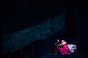 "NEW YORK, NY - NOVEMBER 8, 2017: Gerald Finley, left, and Ailyn Pérez during a performance of Jules Massenet's ""Thaïs"" at the Metropolitan Opera in Manhattan. CREDIT: Emon Hassan for The New York Times"