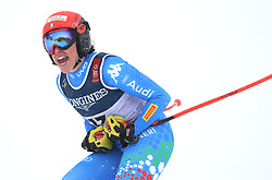 08.02.2019, WM Strecke, Aare, SWE, FIS Weltmeisterschaften Ski Alpin, alpine Kombination, Abfahrt, Damen, im Bild Federica Brignone (ITA) // Federica Brignone (ITA) reacts after the downhill competition of Alpine combination of the ladie's of FIS Ski World Championships 2019. WM Strecke in Aare, Sweden on 2019/02/08. EXPA Pictures © 2019, PhotoCredit: EXPA/ SM<br /> <br /> *****ATTENTION - OUT of GER*****